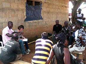 Interview with farmer group in Effiduase, Ashanti Region, Ghana